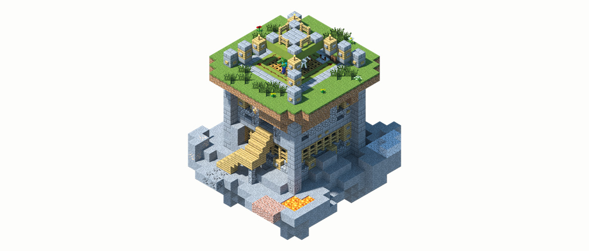 Minecraft House Step By Step Instructions How to Build a Mob Far...