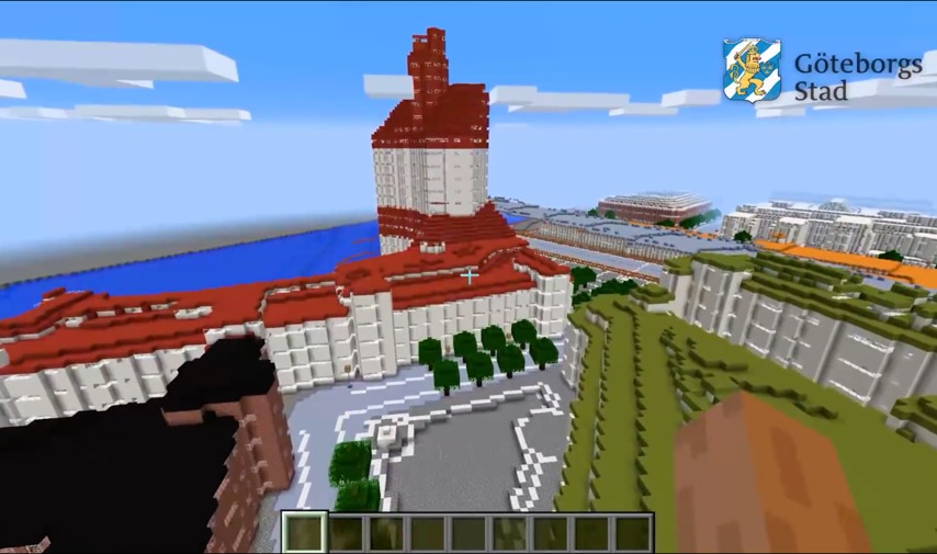 Gothenburg In Blocks Minecraft - Sweden map minecraft download
