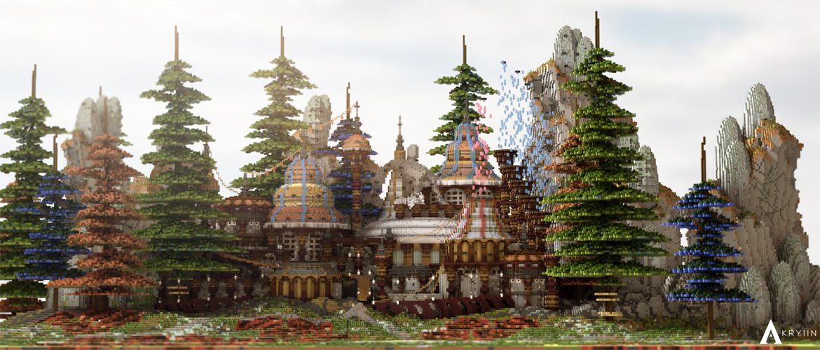 A Temple in the Trees | Minecraft