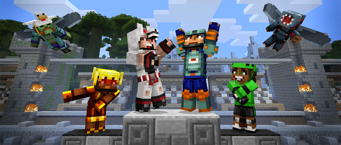 Mini Game Masters Glide Onto Console Minecraft - Minecraft defence spiele