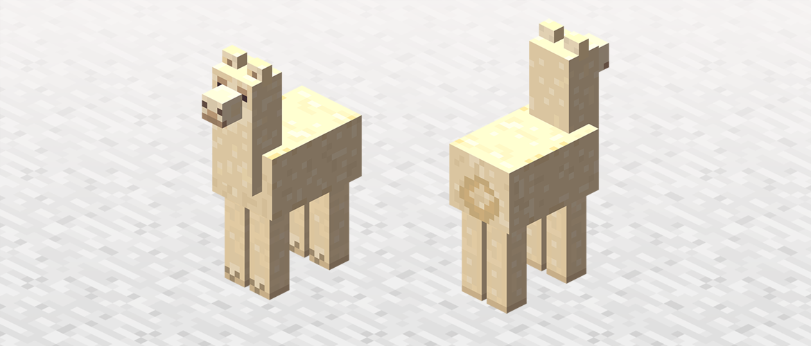 mincraft how to move on a llama
