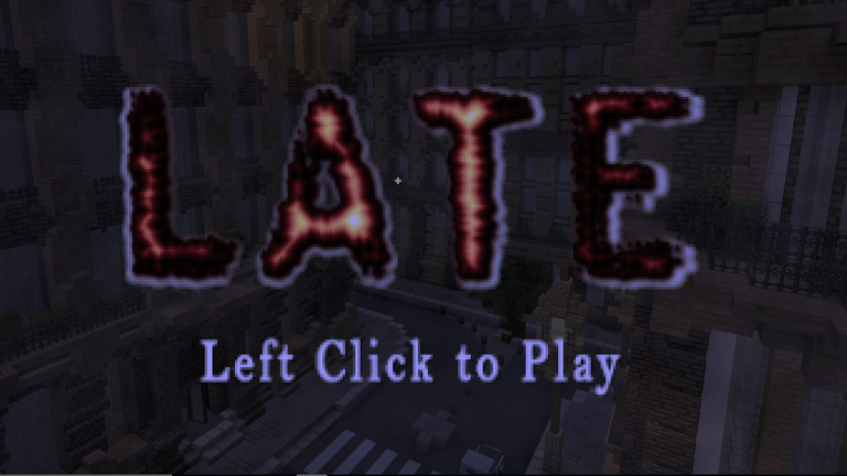Late A Minecraft Horror Map Minecraft - Horror maps fur minecraft