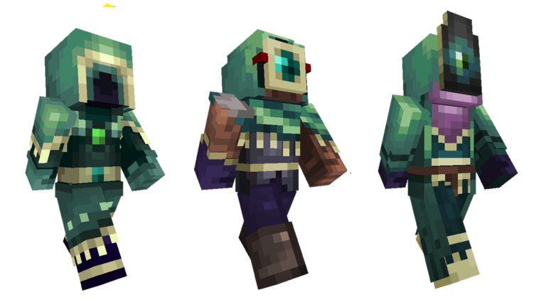 Strangers skin pack out now minecraft for Minecraft fish skin