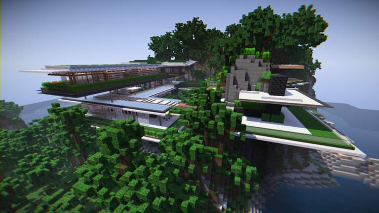 Charming minecraft modern day house pictures plan 3d for Modern day houses