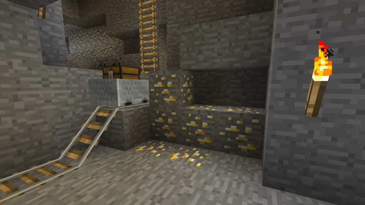 Block Of The Week Gold Ore Minecraft