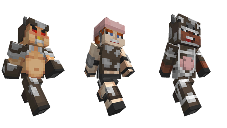 Mini Game Heroes Now On Console Minecraft - Skin para minecraft pe cow